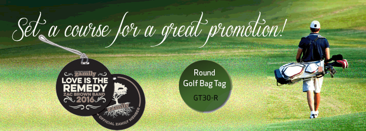 Round Golf Ball Tag